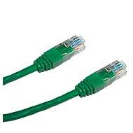 Datacom CAT6, UTP, 0.25m zelený - Síťový kabel