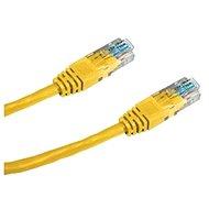 Datacom CAT6, UTP, 0.25m žlutý - Síťový kabel