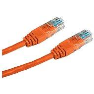 Síťový kabel Datacom CAT5E UTP oranžový 3m - Síťový kabel