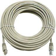 Datacom CAT5E UTP šedý 15m - Síťový kabel