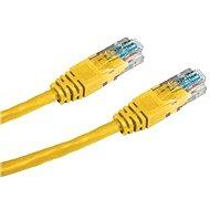 Datacom CAT5E UTP žlutý 0.25m - Síťový kabel