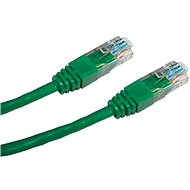 Datacom CAT5E UTP zelený 0.25m - Síťový kabel