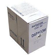 Datacom, licna (lanko), CAT5E, UTP, 305m/box černý - Síťový kabel
