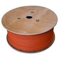 Datacom drát, CAT7, LSOH, S/FTP, oranžový plášť, 500m/box