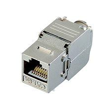 Datacom Keystone RJ45 STP CAT6A samořezný SILVER - Konektor