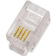 10-pack,Datacom, RJ10, CAT3, UTP, 4p4c, nestíněný, skládaný, na licnu (lanko) - Konektor