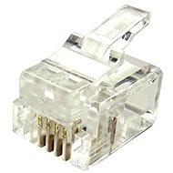10-pack,Datacom, RJ11, CAT3, UTP, 6p4c, nestíněný, skládaný, na licnu (lanko) - Konektor