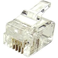 100-pack,Datacom, RJ11, CAT3, UTP, 6p4c, nestíněný, skládaný, na licnu (lanko) - Konektor