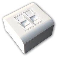 Datacom Modulární datová zásuvka STP CAT6A  2xRJ45 - Zásuvka
