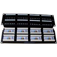 Datacom, 48x RJ45, přímý, CAT5E, UTP, černý, 2U, LSA - Patch panel