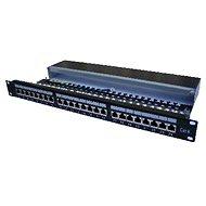 Datacom, 24x RJ45, přímý, CAT6, STP, černý, 1U - Patch panel