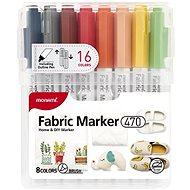 MONAMI 470 Fabric Marker na textil, sada 16 ks - Popisovač