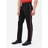 BURTON MENSWEAR LONDON Black slim fit pants with stripes - Trousers