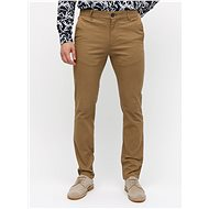 BURTON MENSWEAR LONDON Hnědé skinny chino kalhoty - Kalhoty