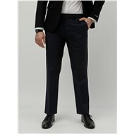 BURTON MENSWEAR LONDON Tmavě modré tailored fit oblekové kalhoty - Kalhoty