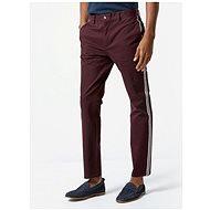 BURTON MENSWEAR LONDON Vínové slim fit kalhoty - Kalhoty