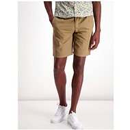 Lindbergh Khaki shorts with a mixture of flax - Shorts
