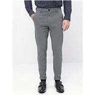 Lindbergh Grey Cropped Slim Fit Slacks - Trousers