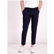 Lindbergh Dark Blue Cropped Slim Fit Trousers - Trousers