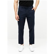 ONLY & SONS Dark blue linen Leo trousers - Trousers