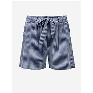 ONLY CARMAKOMA Blue Striped Shorts - Shorts
