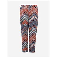 ONLY CARMAKOMA Blue-Pink Patterned Trousers African - Trousers