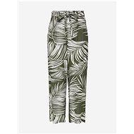 ONLY Khaki vzorované kalhoty Augustina - Kalhoty