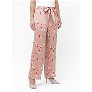 ONLY Starorůžové květované kalhoty Giza - Kalhoty