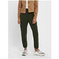 ONLY Tmavě zelené kalhoty s kapsami - Kalhoty