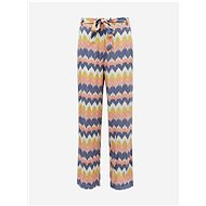 ONLY Yellow-Blue Patterned Trousers Nova - Trousers
