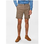 Selected Homme Brown patterned straight fit shorts Paris - Shorts