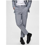 Selected Homme Light blue slim fit pants with flax Will - Trousers