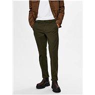 Selected Homme Tmavě zelené chino kalhoty New Paris - Kalhoty