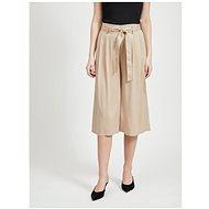 VILA Béžové culottes Vero - Kalhoty