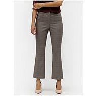 VILA Béžové vzorované kalhoty Olau - Kalhoty