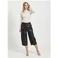 VILA Černé koženkové culottes Vivi - Kalhoty