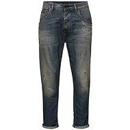 Jack & Jones Modré džíny s vyšisovaných efektem Frank - Džíny