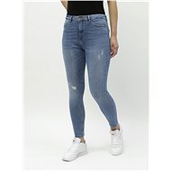 ONLY Blue short skinny jeans with a high waist Paola - Jeans