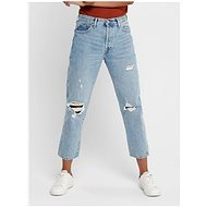 ONLY Blue shortened straight fit Fine jeans - Jeans