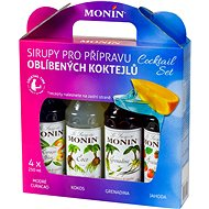 MONIN COCKTAIL BOX 4 x 0,25 l sirup - Příchuť