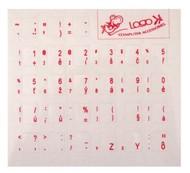 Přelepky na klávesnici, CZ červené - Přelepky na klávesnici