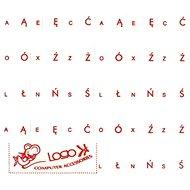 Přelepky na klávesnice, červené, polské - Přelepky