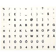 Přelepky na klávesnice, maďarské, černé - Přelepky