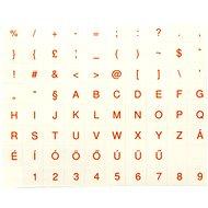 Přelepky na klávesnice, maďarské, červené - Přelepky