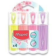 Maped Fluo Peps Pastel - sada 4 barev