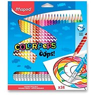 Maped Color´Peps Oops Wood-free with Rubber, 24 Colours