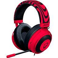 Razer Kraken PRO V2 Neon Red PewDiePie - Herní sluchátka