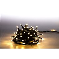 Marimex Light chain 100 LED 5 m - warm white - green cable - 8 functions - Christmas Chain Lights