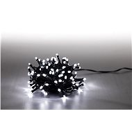 Marimex Light chain 100 LED 5 m - cold white - green cable - 8 functions - Christmas Chain Lights