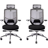 MOSH BS-X02 černá - pack 2ks - Kancelářská židle